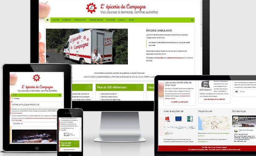 L'epicerie de campagne site web web in normandie