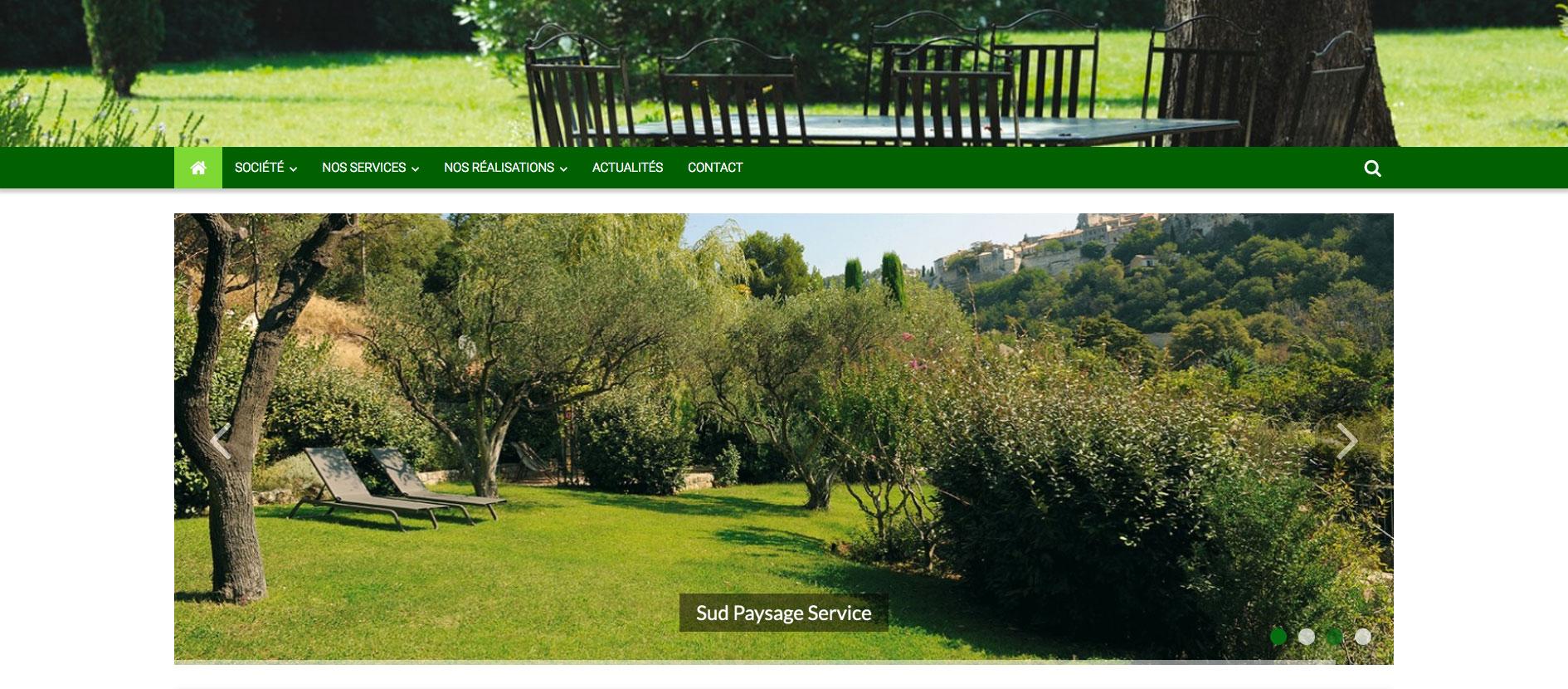 Référence site internet sud paysage service