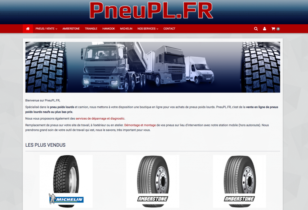 Site internet du mois Pneu Poids Lourds